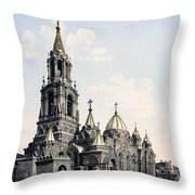 St. Demitry Church - Charkow - Ukraine - Ca 1900 Throw Pillow