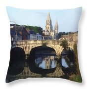 St. Finbarres Cathedral, Cork, Co Cork Throw Pillow