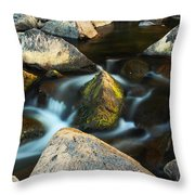 St Francis River At Dusk II Throw Pillow