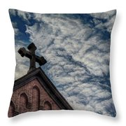 St. George Against The Dragon Throw Pillow