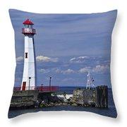 St. Ignace Lighthouse Throw Pillow