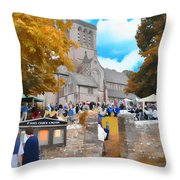 St. James Church Throw Pillow