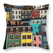 St John Newfoundland Canada Throw Pillow