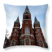 St. Josaphat Roman Catholic Church Detroit Michigan Throw Pillow by Gordon Dean II