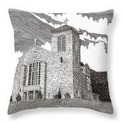 St. Joseph Apache Cathedral Throw Pillow