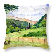St. Kevin's And Wicklow Mountians Throw Pillow