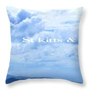 St Kitts And Nevis Poster Throw Pillow
