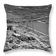 St. Louis Arch Construction Throw Pillow