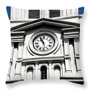 St Louis Cathedral Clock Jackson Square French Quarter New Orleans Fresco Digital Art Throw Pillow