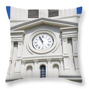 St Louis Cathedral Clock Jackson Square French Quarter New Orleans Throw Pillow