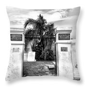 St Louis Cemetery Gate - New Orleans Throw Pillow