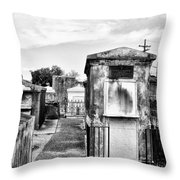 St Louis Cemetery - New Orleans Throw Pillow