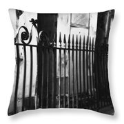 St Louis Cemetery Number One Tombs And Wrought Iron Throw Pillow