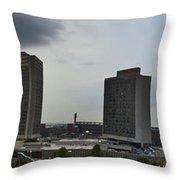 St Louis Downtown Panorama Throw Pillow
