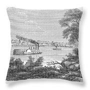 St. Louis, Missouri, 1847 Throw Pillow