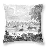 St. Louis, Missouri, 1854 Throw Pillow