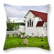 St. Luke's Church In Placentia Newfoundland Throw Pillow by Elena Elisseeva