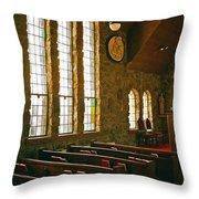 St Malo Church Throw Pillow