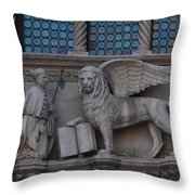 St. Marco And The Lion Throw Pillow