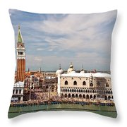 St. Marks Square Venice Throw Pillow