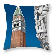 St Marks Tower Throw Pillow