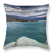 St. Mary Lake Under Stormy Skies Throw Pillow