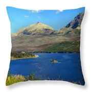 St. Mary's Lake 1 Throw Pillow