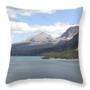 St Marys Lake Glacier National Park Mt Throw Pillow