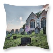 St Michael's East Peckham Throw Pillow