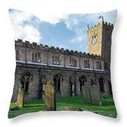 St Oswald's Church - Askrigg Throw Pillow