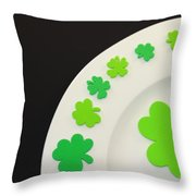 St. Patrick's Day Plate Throw Pillow