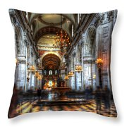 St Paul Cathedral Interior Throw Pillow