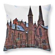 St. Paul S Episcopal Cathedral Throw Pillow