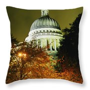 St Pauls Cathedral At Night With Trees Throw Pillow