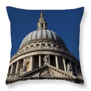 St Pauls Cathedral London Throw Pillow