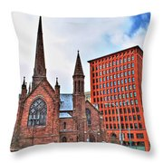 St. Paul's Episcopal Cathedral Throw Pillow