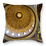 St Peter's Basilica Dome  Throw Pillow