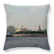 St Petersburg And River Neva - Russia Throw Pillow
