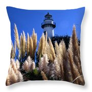 St Simons Lighthouse Throw Pillow