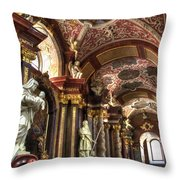 St Stanislaus Church - Posnan Poland Throw Pillow