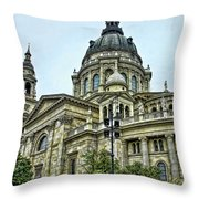 St Stephens Cathedral - Budapest Throw Pillow