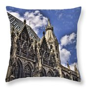 St Stephens Cathedral - Vienna Throw Pillow