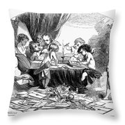 St. Valentines Day, 1856 Throw Pillow