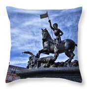 St Vitus Cathedral - St George Statue  Throw Pillow