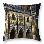 St Vitus Cathedral Entrance Throw Pillow