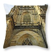 St Vitus Cathedral Prague - The Realms Of 'non-being' Throw Pillow