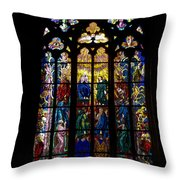 St Vitus Cathedral Stained Glass Throw Pillow