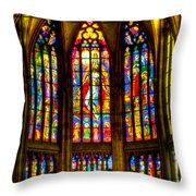 St Vitus Main Altar Stained Glass Throw Pillow