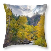 St Vrain Canyon Autumn Colorado View Throw Pillow