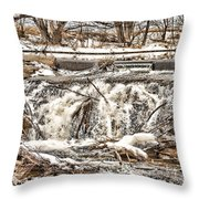 St Vrain River Waterfall   Throw Pillow